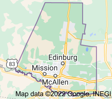 Map of Hidalgo County