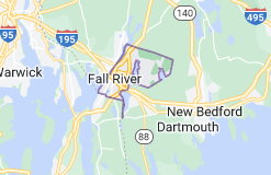 Map of Fall River, Massachusetts