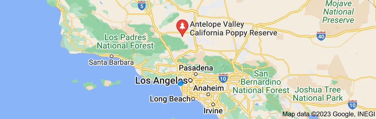 Map of california poppy