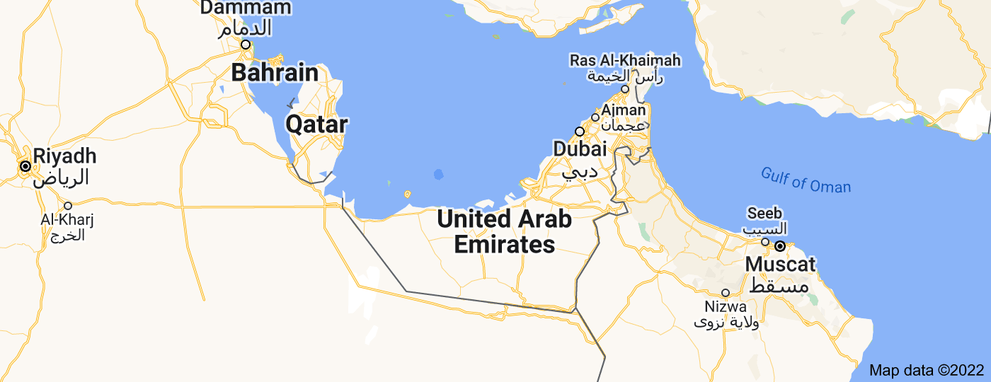 Location of United Arab Emirates