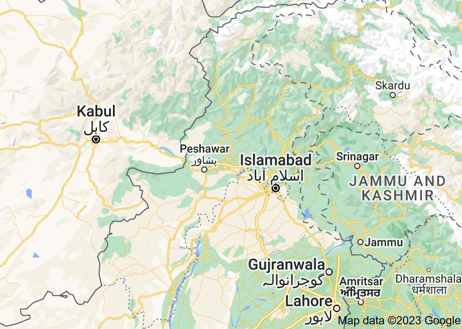 Location of Khyber Pakhtunkhwa