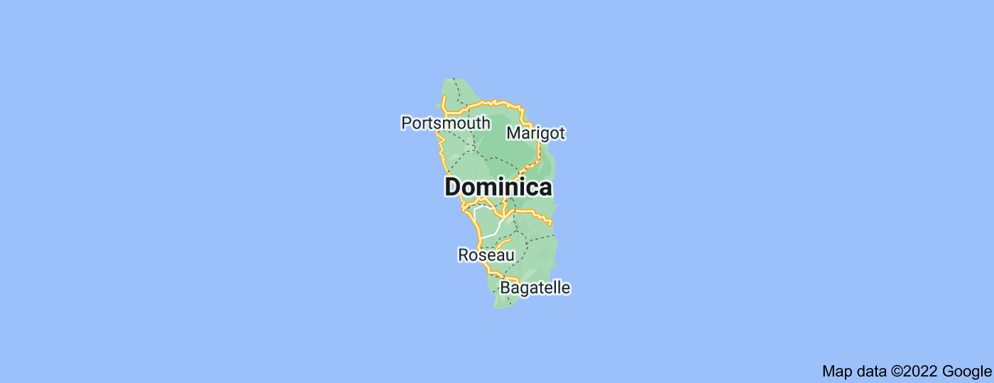 Location of Dominica