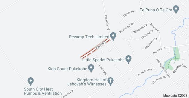 Location of Kauri Road
