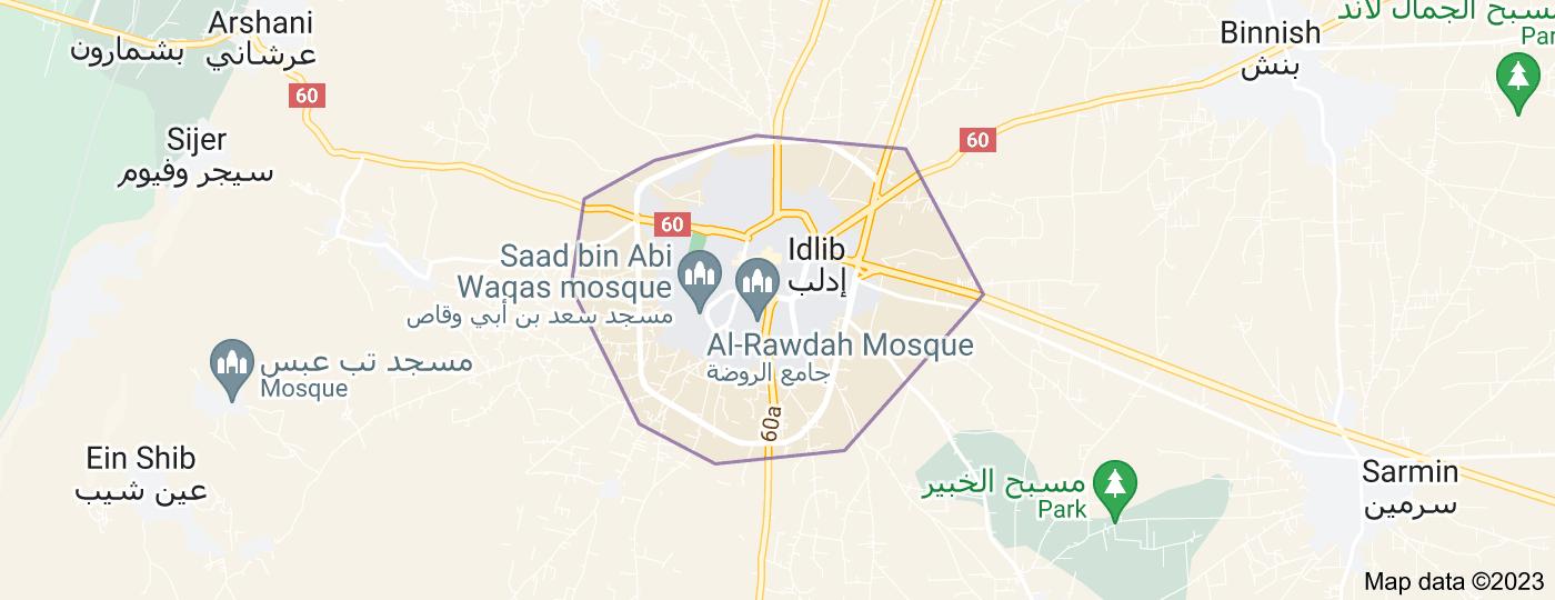 Location of Idlib