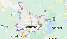 Map of Gainesville, Florida