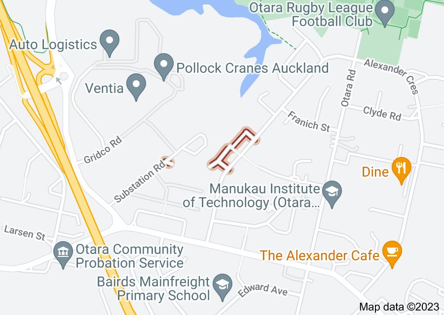 Location of Kaitawa Street