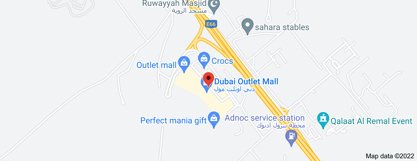 Location of Dubai Outlet Mall