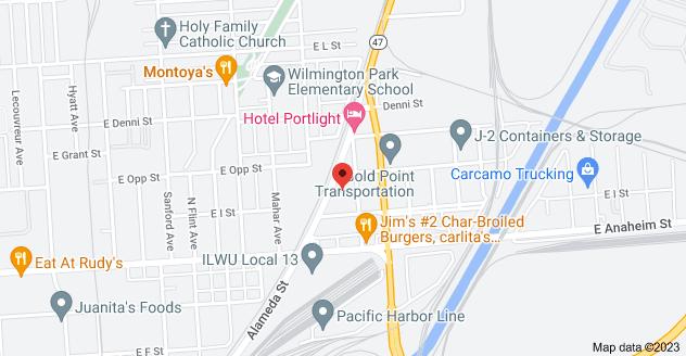 Map of 940 Alameda St, Wilmington, CA 90744