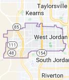 Map of West Jordan, Utah