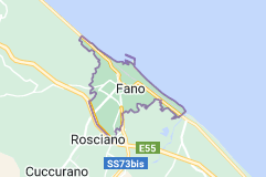 Map of Fano Italy