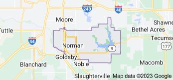 Map of Norman, Oklahoma