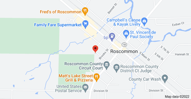 Map of 205 N 3rd St, Roscommon, MI 48653