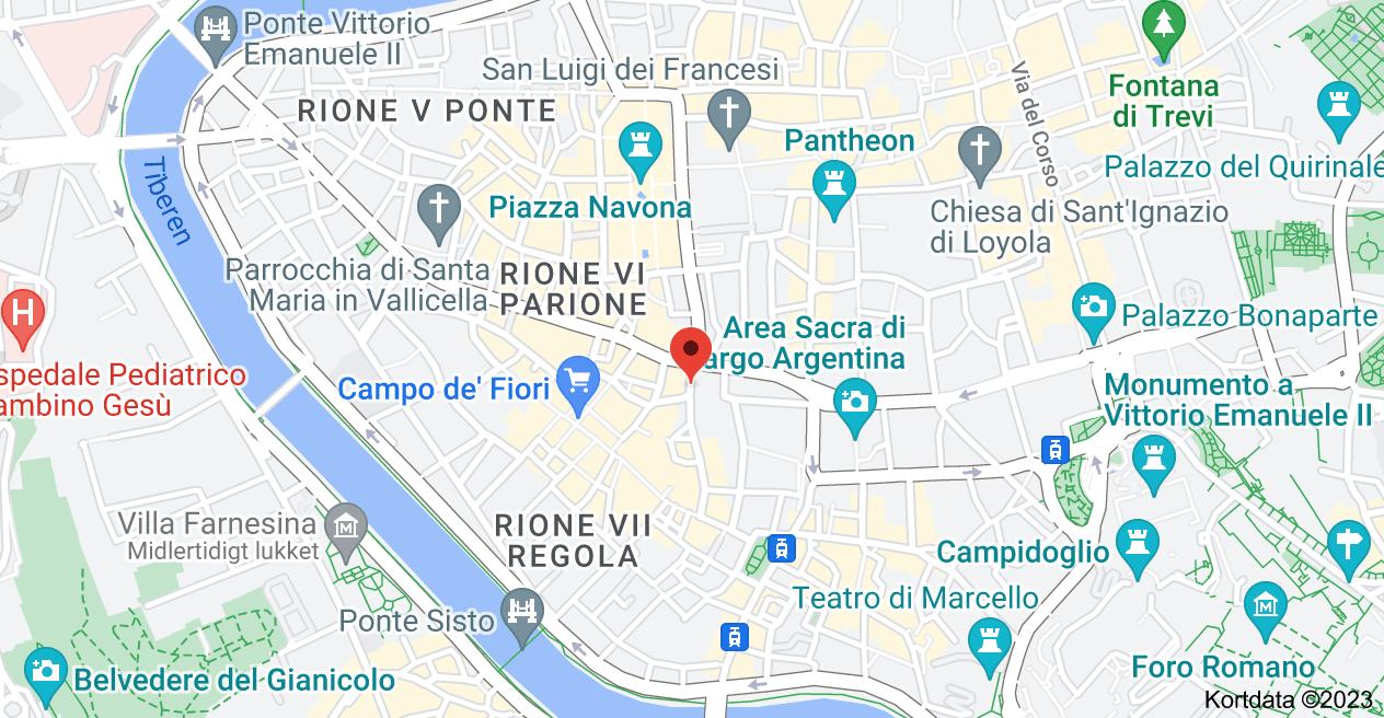 Kort over Largo dei Chiavari,  1,  00186 Roma RM,  Italien