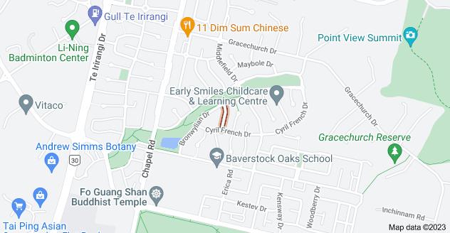 Location of Tornish Drive