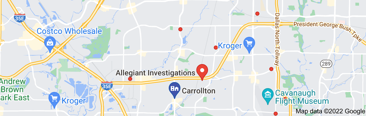 Map of private investigator carrollton tx