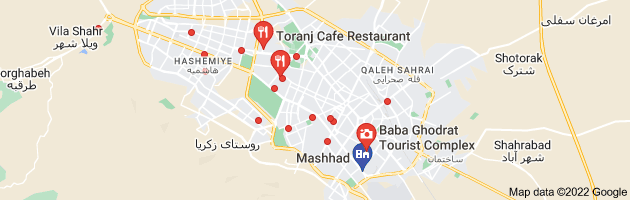 Map of رستوران های سنتی مشهد