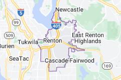 Map of Renton, Washington