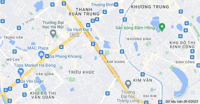 Bản đồ của Đường Nguyễn Xiển, Hà Nội