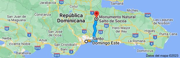 Mapa a Monumento Natural Salto De Socoa, Aut. del Nordeste