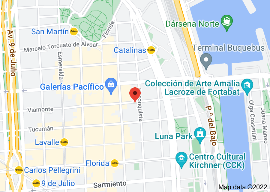 Location of University of Buenos Aires