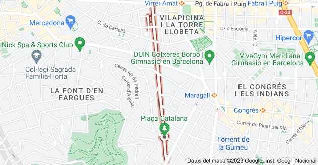 Mapa de Carrer d'Amílcar, Barcelona, España