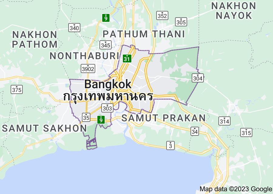 Location of Bangkok