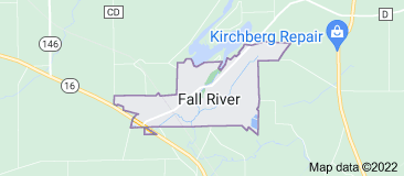 Map of Fall River Wisconsin