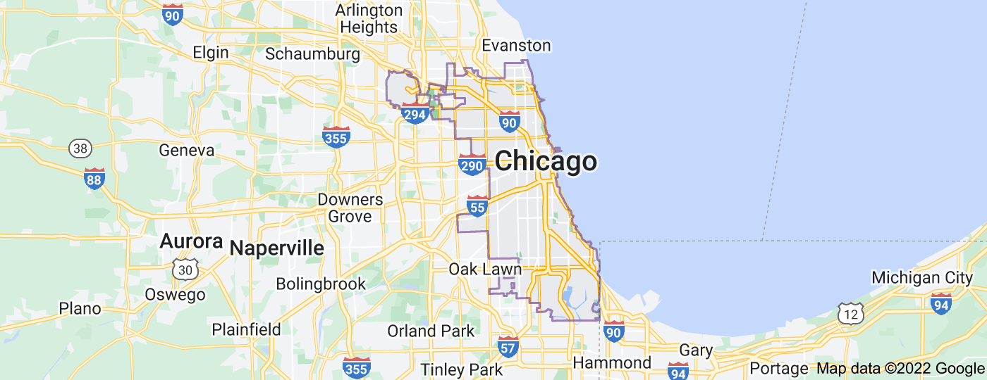 Location of Chicago