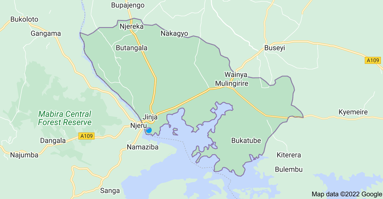 Map of Jinja