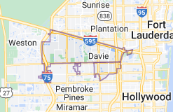Map of Davie, Florida