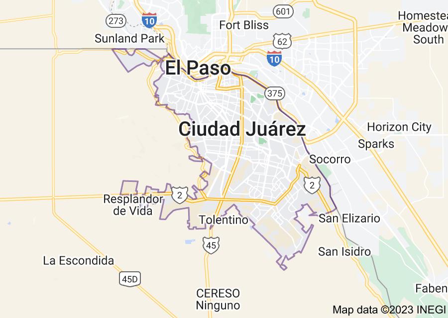 Location of Ciudad Juárez