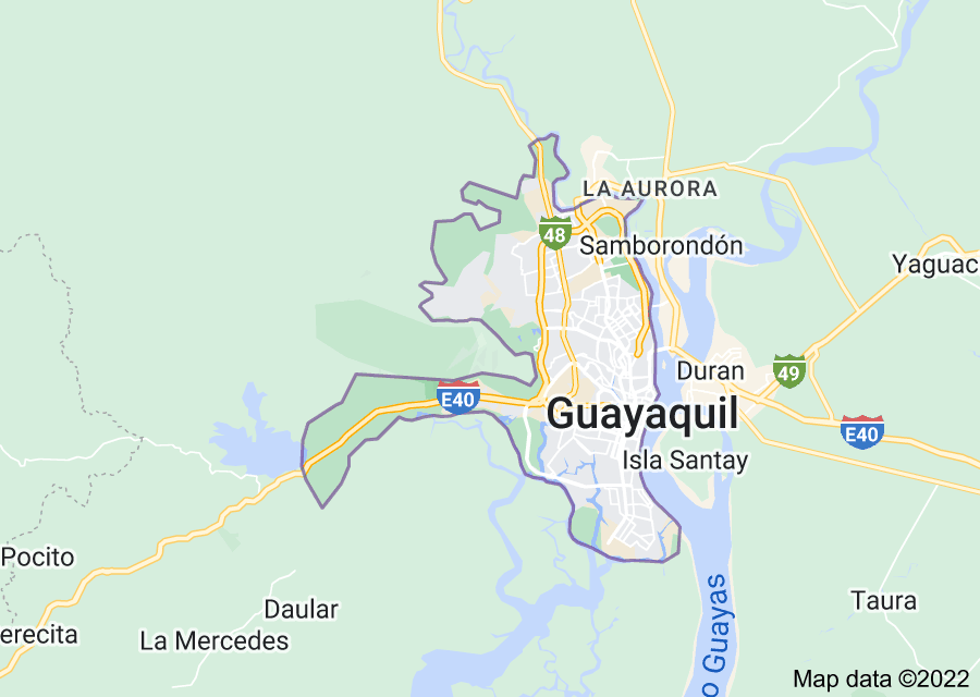 Location of Guayaquil
