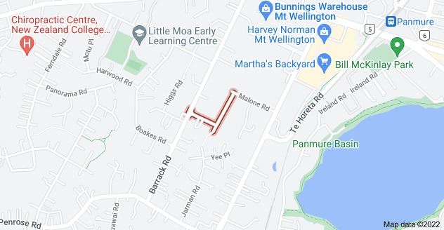 Location of Bertrand Road