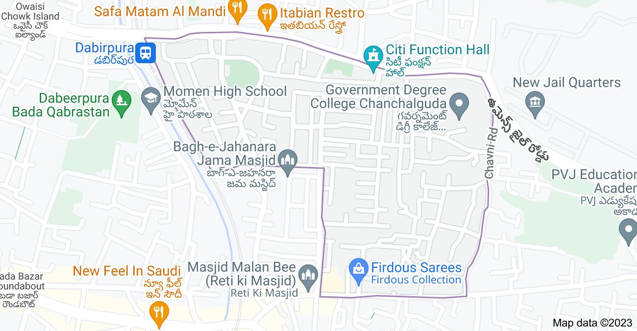 Map of Chavni, Dabeerpura, Hyderabad, Telangana 500023, India