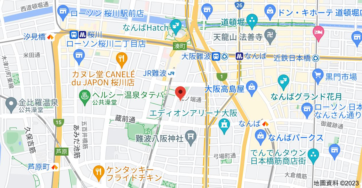 日本〒556-0016 Osaka, Naniwa-ku, Motomachi, 1-chōme−7−3 ラナップスクエア難波地圖
