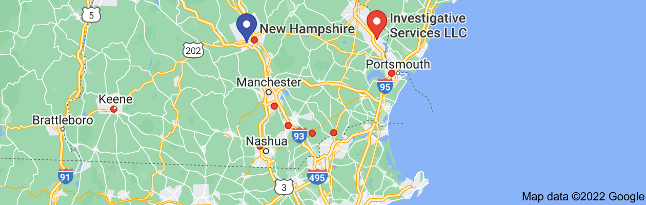 Map of private investigator new hampshire