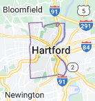 Map of Hartford, Connecticut