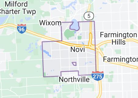 Map of Novi, Michigan