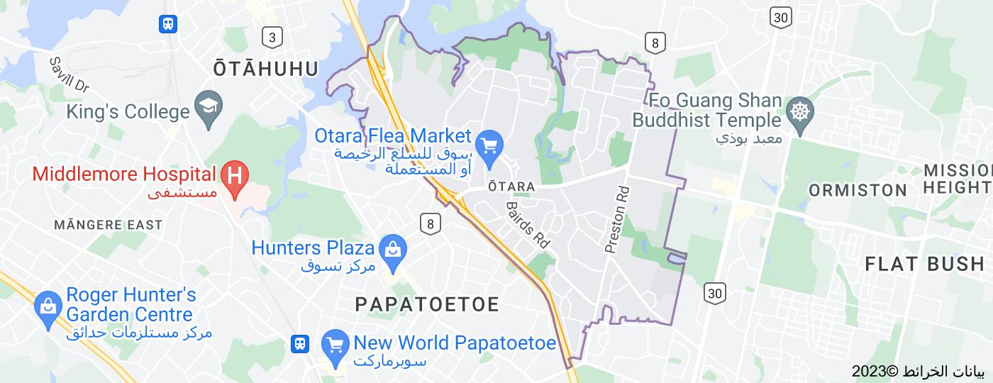 Location of Otara