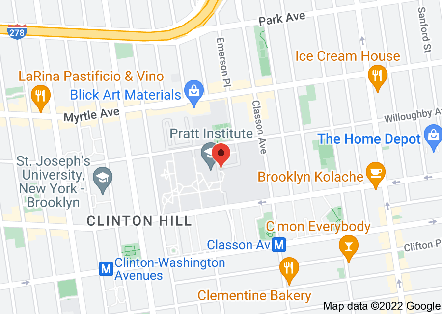 Location of Pratt Institute