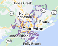 Map of Charleston, South Carolina