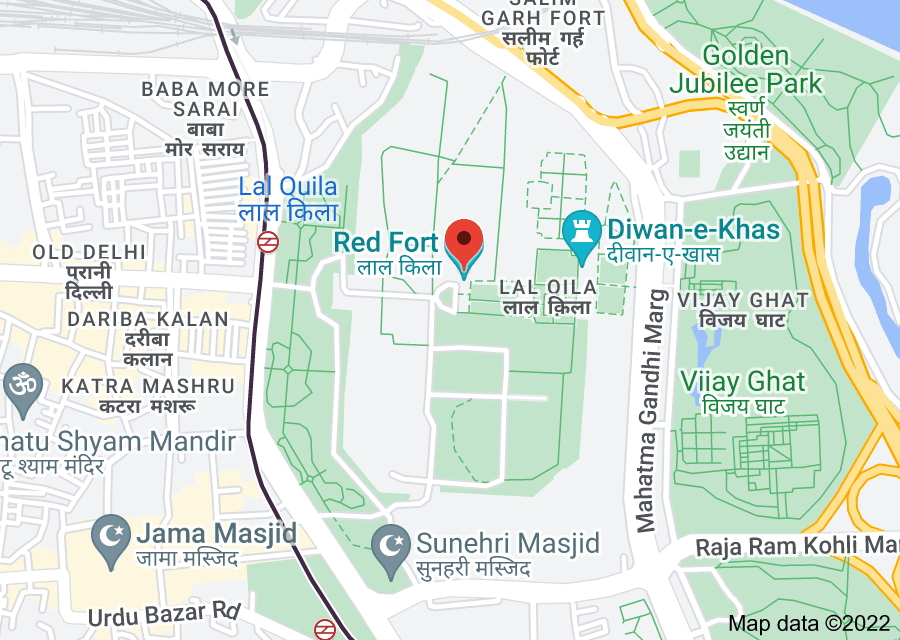 Location of Red Fort