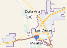 Map of Las Cruces