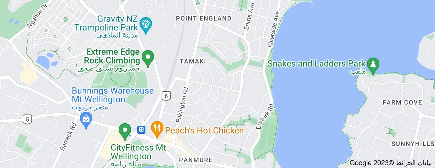 Location of Tamaki, New Zealand