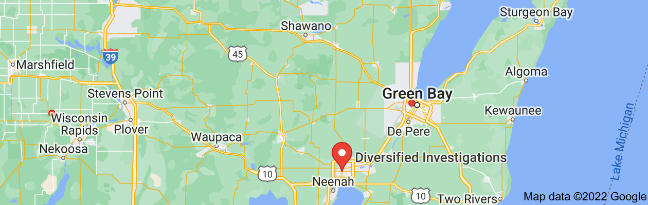 Map of private investigators in Wisconsin