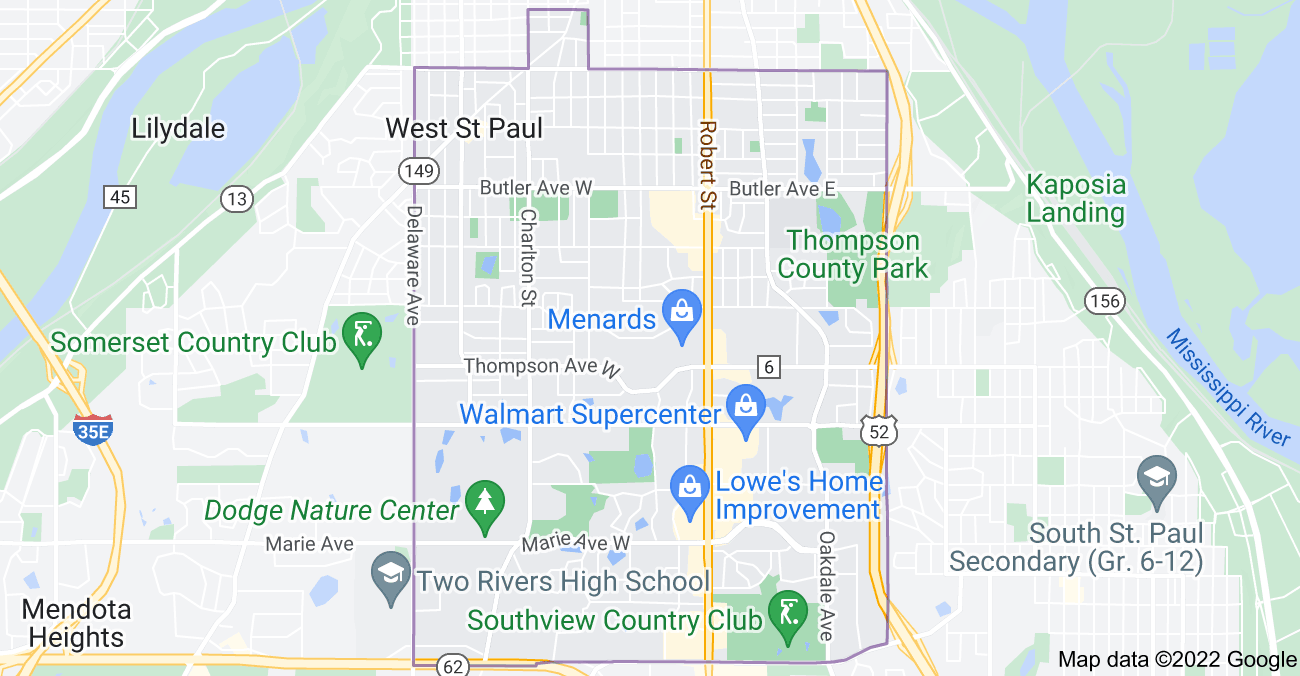 Map of West St Paul, MN 55118