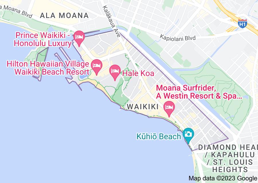 Location of Waikiki