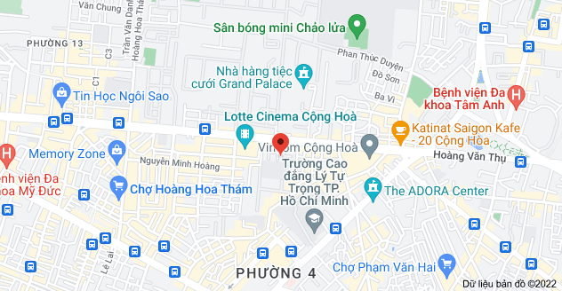 Bản đồ của 99C/33 Cộng Hòa, Phường 4, Tân Bình, Hồ Chí Minh