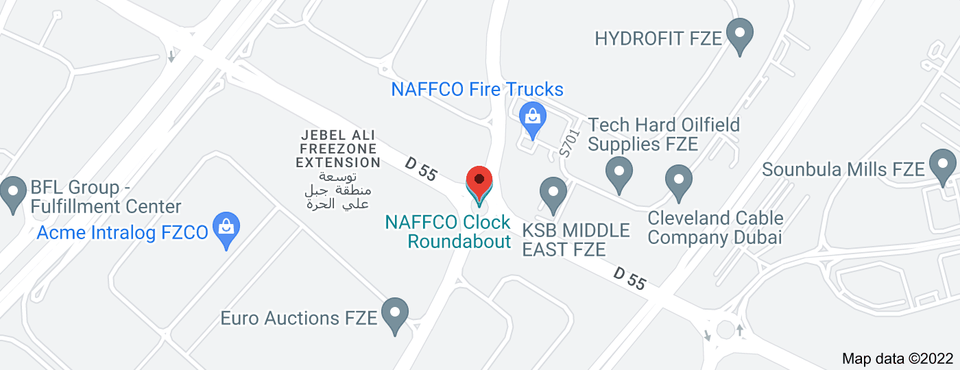 Location of NAFFCO Clock Roundabout