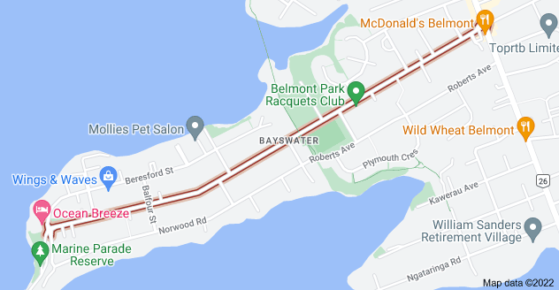 Location of Bayswater Avenue